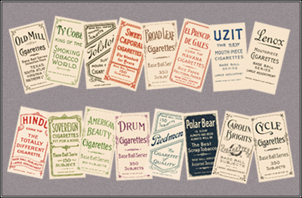T206 Back Advertisers Reprint Set of 16