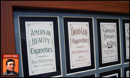 T206 Back Advertisers - Framed Reprint Set of 16